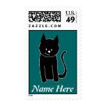 Gato negro lindo sellos
