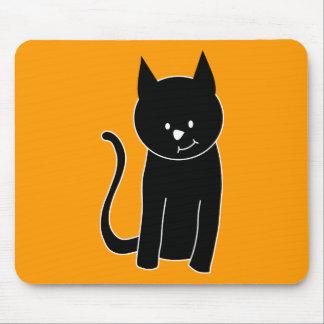 Gato negro lindo alfombrilla de ratón