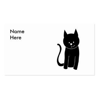 Gato negro lindo tarjeta personal