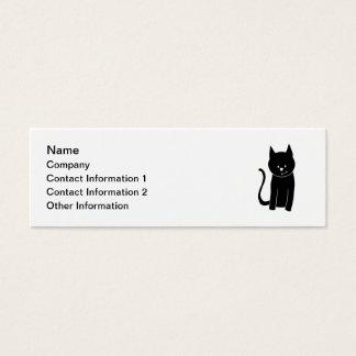 Gato negro lindo tarjetas de visita mini