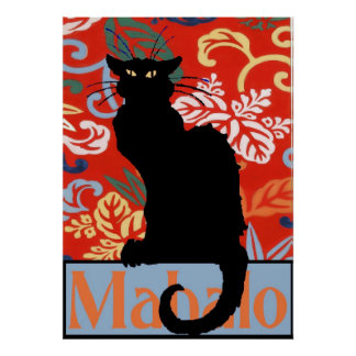 Gato negro, Mahalo, gracias, poster