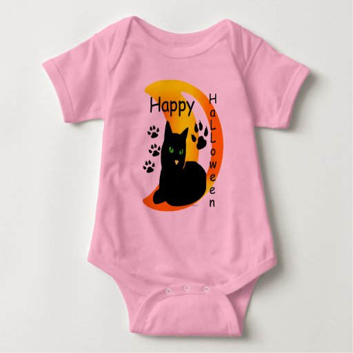 Gato negro mameluco de bebé
