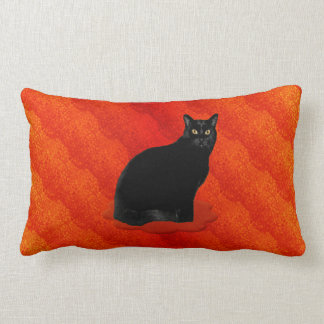 Gato negro misterioso cojín