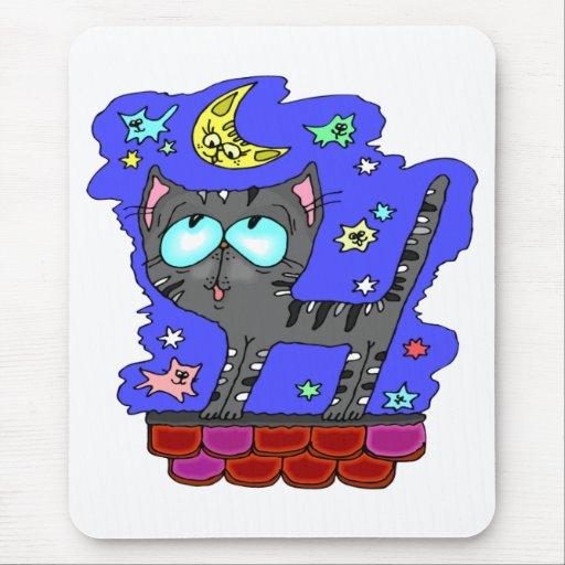 Gato negro Mousepad Alfombrilla De Raton