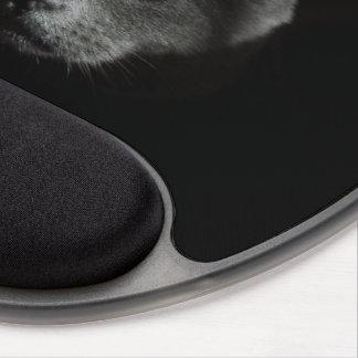 Gato negro Mousepad provocado Alfombrilla Con Gel