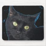 Gato negro Mousepad Tapete De Ratones