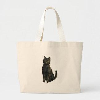 Gato negro pasado de moda de Halloween Bolsa