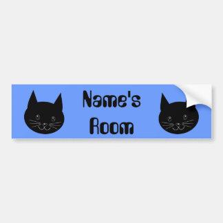 Gato negro pegatina para auto