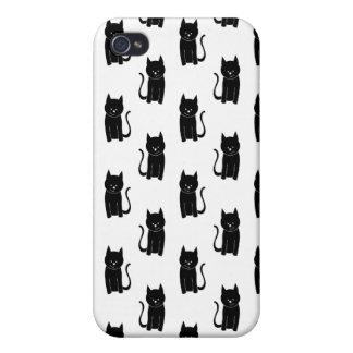 Gato negro pern. iPhone 4/4S fundas