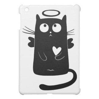 Gato negro personalizado del ángel lindo