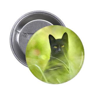 Gato negro pin redondo 5 cm