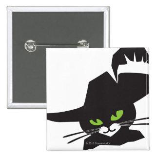 Gato negro pin cuadrado