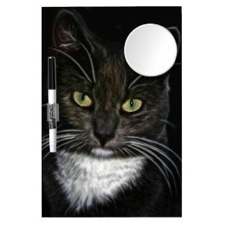 Gato negro pizarra