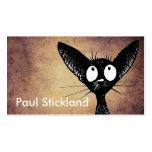 Gato negro plantilla de tarjeta de visita