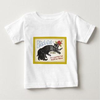 Gato negro playera de bebé