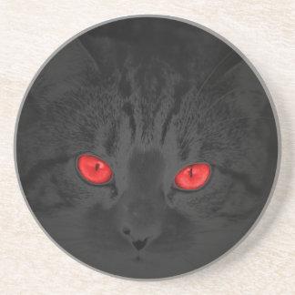 Gato negro posavasos personalizados