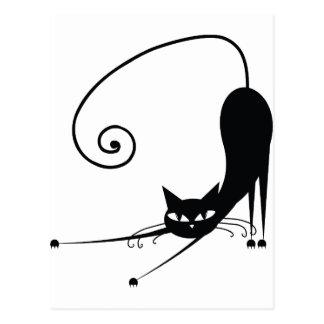 Gato negro postal