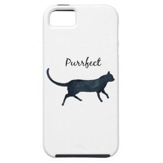 """Gato negro """"purrfect """" funda para iPhone SE/5/5s"""