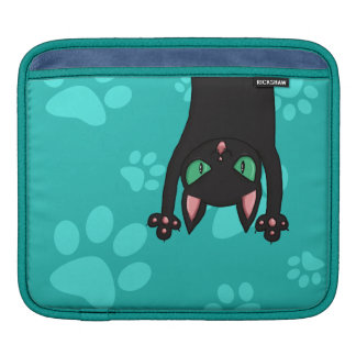 Gato negro que salta fundas para iPads