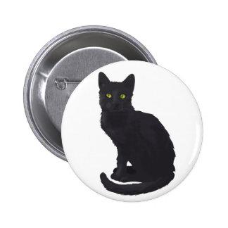 Gato negro real pins