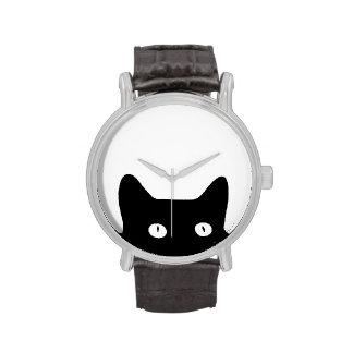 Gato negro relojes