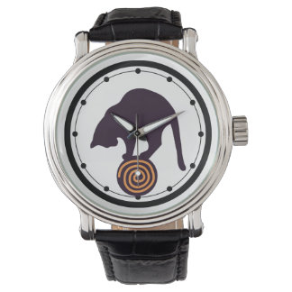 Gato negro relojes de pulsera