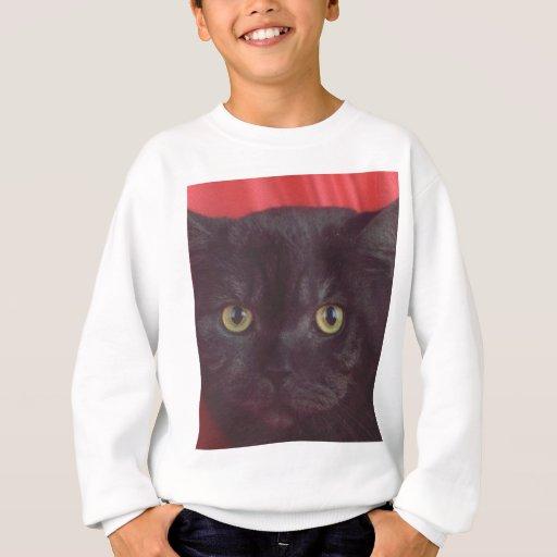 Gato negro - ROJO Playera