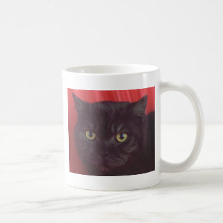 Gato negro - ROJO Taza Clásica