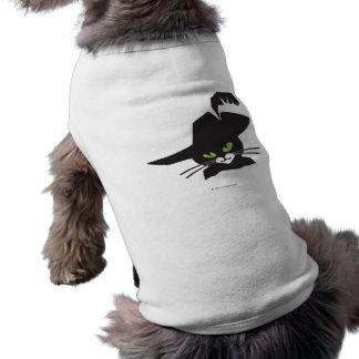 Gato negro camisa de mascota