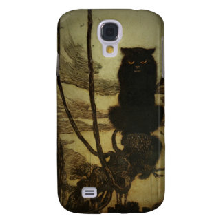 Gato negro Scowling Funda Samsung S4
