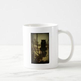 Gato negro Scowling Taza De Café
