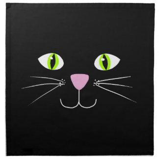 Gato negro servilletas imprimidas