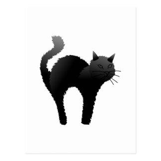 Gato negro Silhoutte Tarjetas Postales
