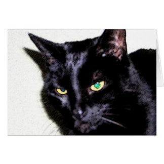 Gato negro Sumio Tarjeta De Felicitación