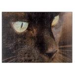 Gato negro tabla para cortar