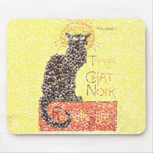 Gato negro tapetes de ratones