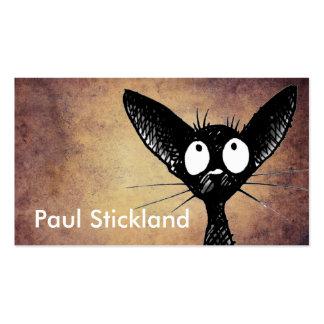 Gato negro tarjetas de visita