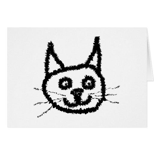 Gato negro tarjeta de felicitación