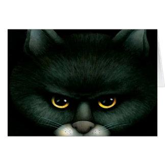 Gato negro - tarjeta de Halloween