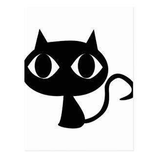 Gato negro tarjetas postales