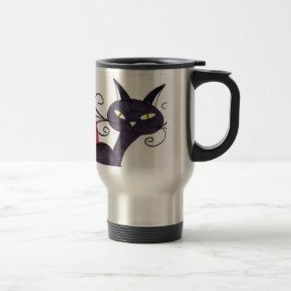 Gato negro taza térmica