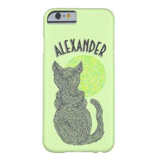 Gato negro y el gatito felino del amante del gato funda barely there iPhone 6