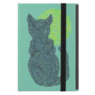Gato negro y el gatito felino del amante del gato iPad mini funda