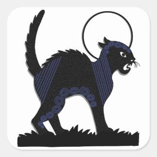 Gato negro y luna - 4 de Halloween Pegatinas