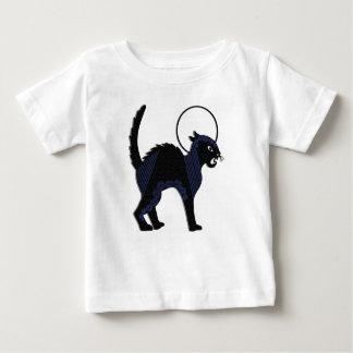 Gato negro y luna adornados - camiseta de