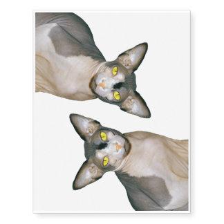Gato Ninja del tatuaje el | Sphynx Tatuajes Temporales