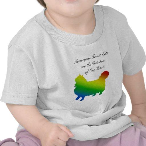 Gato noruego del bosque del arco iris camiseta