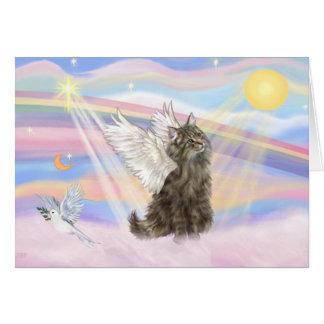 Gato noruego del bosque del Tabby - ángel Tarjeta De Felicitación