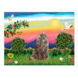 Gato noruego del bosque - país brillante tarjeta postal