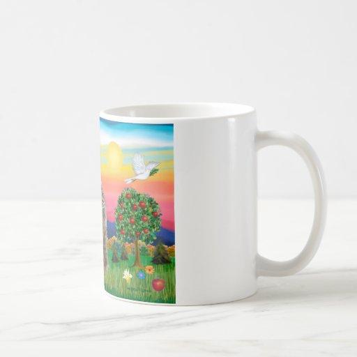 Gato noruego del bosque - país brillante tazas de café